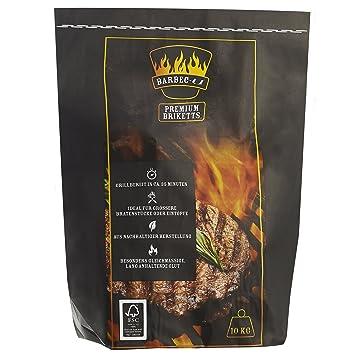 Barbec-U Premium 200100001187 Carbón para Barbacoa, Negro, 100x37x17 cm
