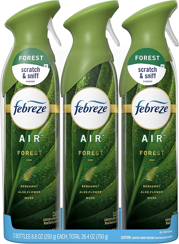 Febreze Air Freshener Spray, Forest, Odor Eliminator, 3 Count
