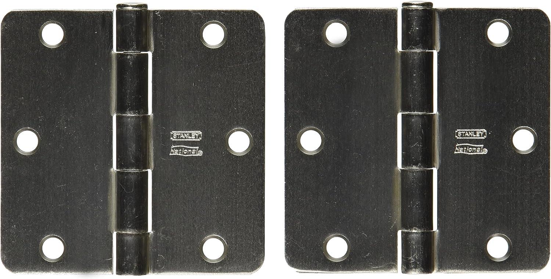 Stanley Hardware S821-355 RPRD741 Residential Hinge in Satin Nickel 2 Pack