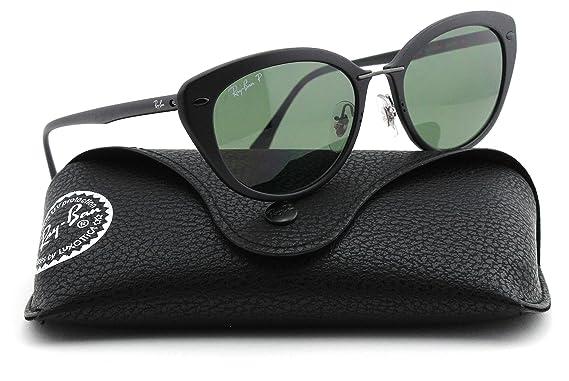 0917f33574 Ray-Ban RB4250 Tech Light-Ray Titanium Women Sunglasses (Matte Black  Frame Polarized Green Lens 601S9A