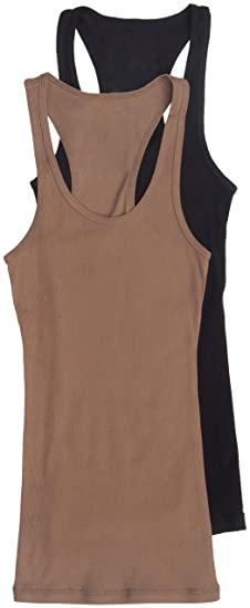 48eb85cd028358 Image Unavailable. Image not available for. Color  2 Pack Zenana Women s  Ribbed Racerback Tank Tops ...
