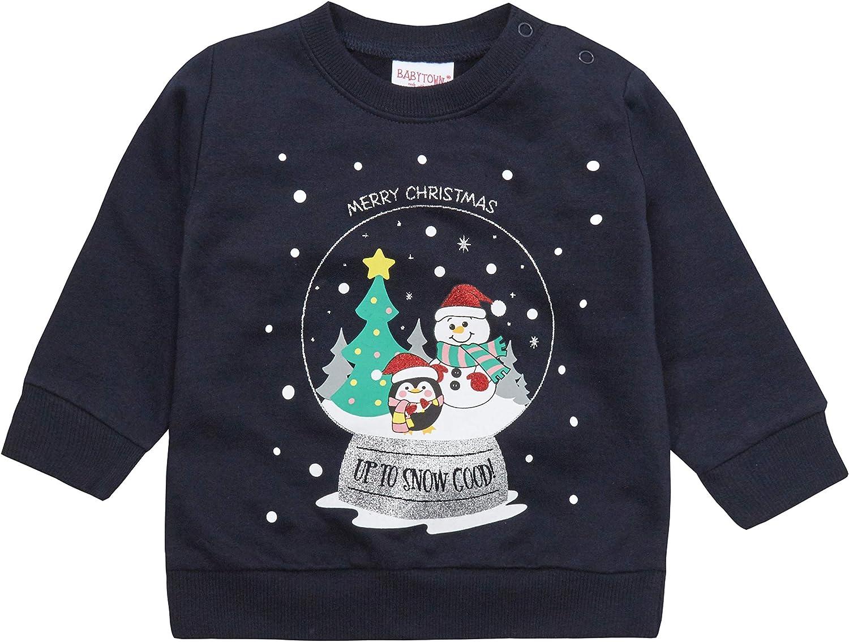 BABYTOWN Baby Boys Novelty Christmas Sweatshirt