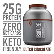 Isopure Low Carb, Keto Friendly Protein Powder, 100% Whey Protein Isolate, Flavor: Dutch Chocolate, 4.5 Pounds (Packaging May Vary)
