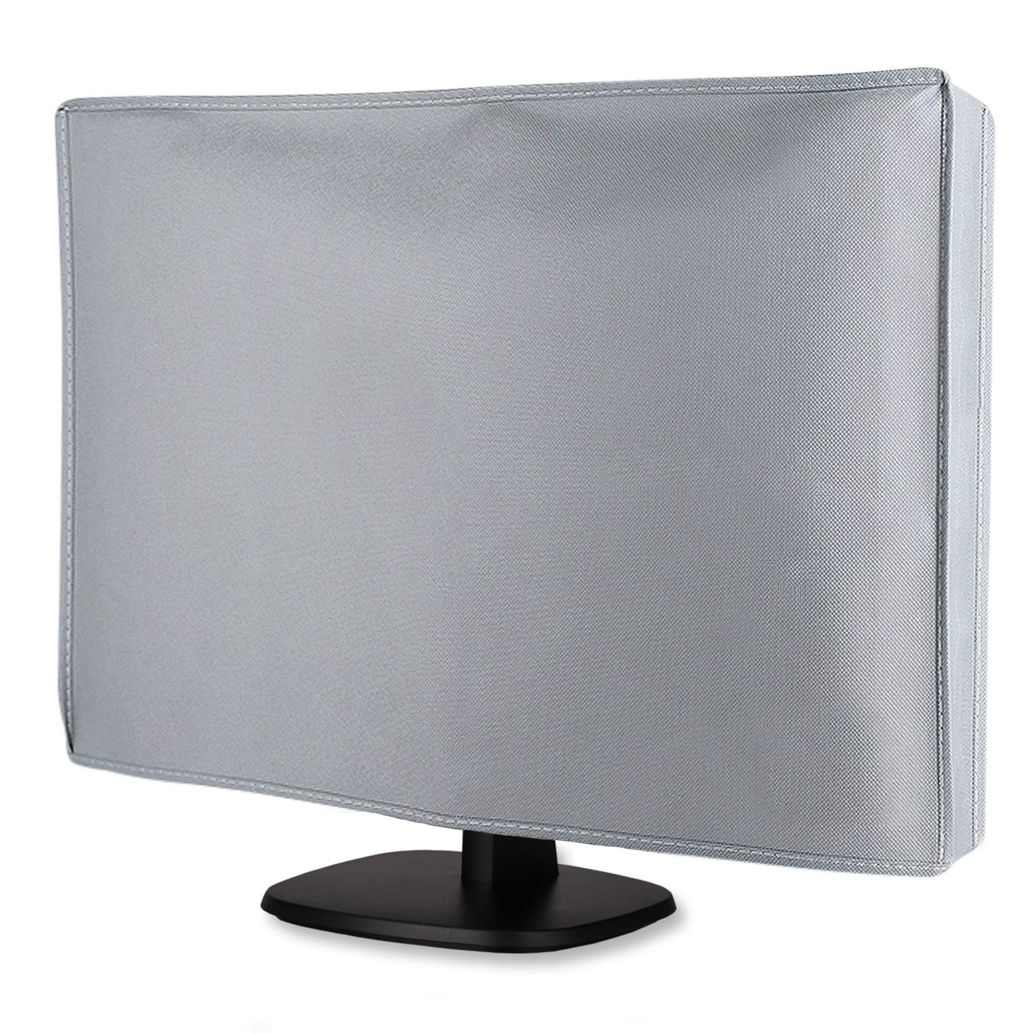 Computer Flat Screen Monitor Cover, Nonwoven Fabric Dust-Proof Full Body Sleeve for 23 to 25 inches LCD/LED Non-Curved Monitor 24 x 18 x 3 inches (L x H x W)