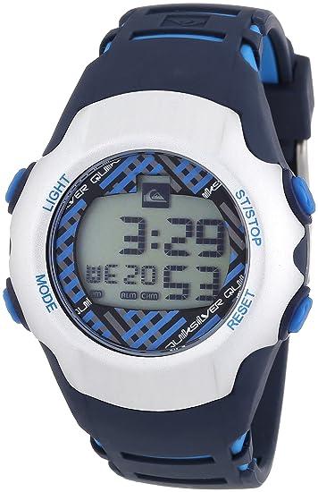 Quiksilver Y018DR 42T - Reloj digital infantil de cuarzo con correa de plástico azul (alarma