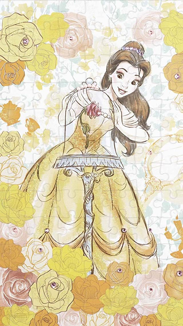 ディズニー 美女と野獣 Belle(ベル) iPhoneSE/5s/5c/5(640×1136)壁紙画像