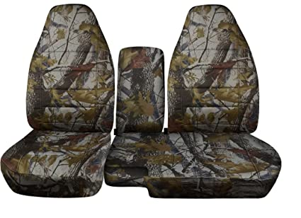 1998 To 2003 Ford Ranger 60 40 Truck Seat Covers Real Tree Camouflage Console Cover With Cupholder Opening Included