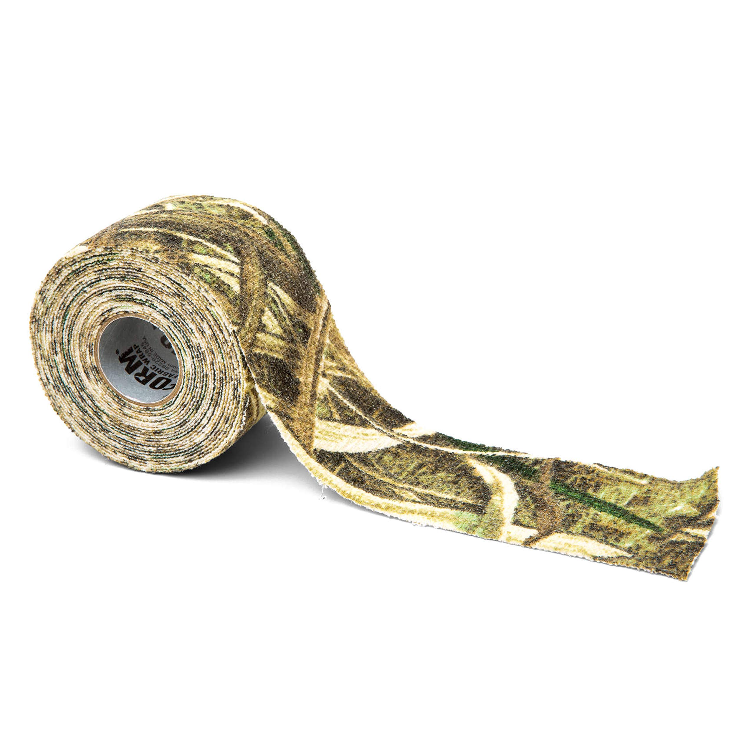 GEAR AID Camo Form Self-Cling and Reusable Camouflage Wrap, Mossy Oak Shadow Grass Blades, 2'' x 144'' Roll by GEAR AID
