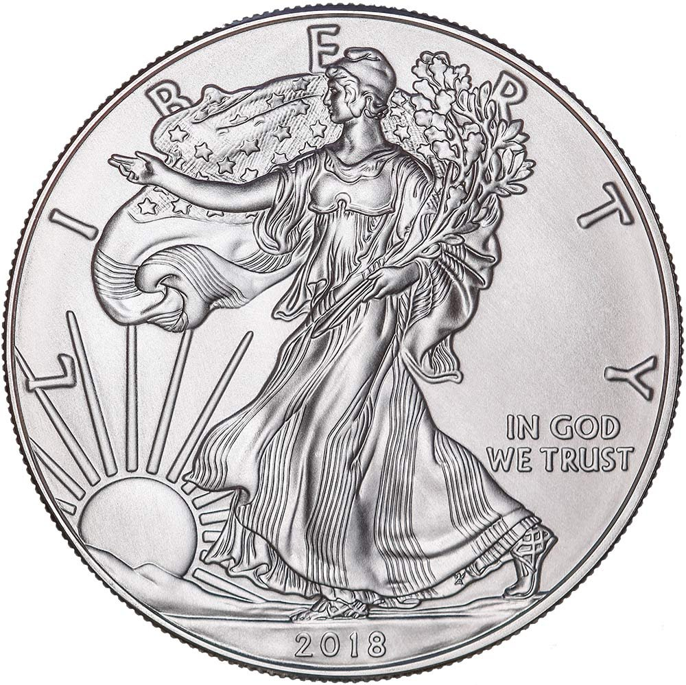 2018 American Silver Eagle with capsule $1 Brilliant Uncirculated US Mint with a Custom Gift Box