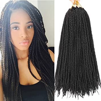 Amazoncom 7 Packs 18 Inch Medium Box Braids Crochet Hair