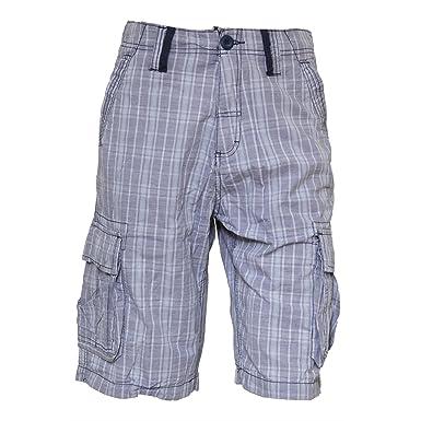 Mens Checked Casual Summer Shorts (Waist 30inch) (Insignia Blue ...