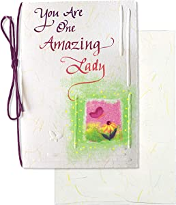 """Blue Mountain Arts Greeting Card """"You Are One Amazing Lady"""" Is Perfect for Mother's Day, Birthdays, Anniversaries, or Anytime You Want to Celebrate a Wonderful Woman in Your Life, Model Number: HW057"""