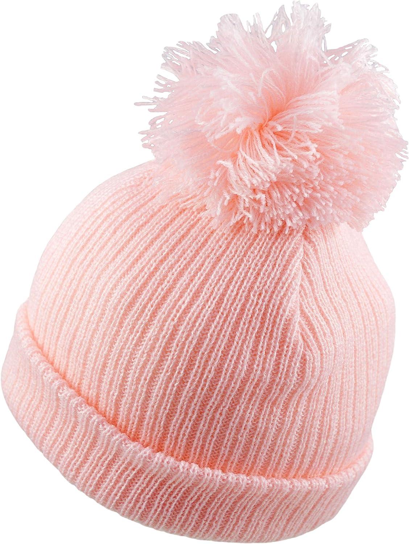 Pesci Baby Bonnet B/éb/é /à Double Pompon pour B/éb/é Fille ou B/éb/é Gar/çon Beanie Chapeau Hiver Tricot/é Unisex Enfant pour Naissance Nouveau N/é jusqu/à 12 Mois