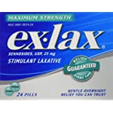 Ex-Lax Maximum Strength Laxative, 24-Count Pills (Pack of 2)