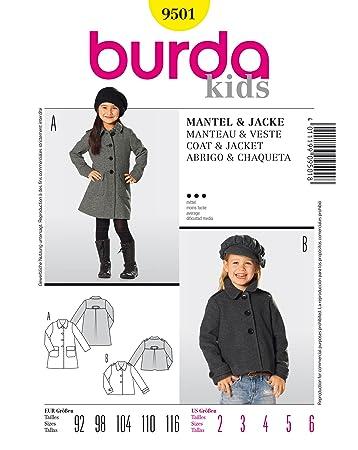 Burda Schnittmuster 9501 Mantel & Jacke Gr. 92-116: Amazon.de: Küche ...