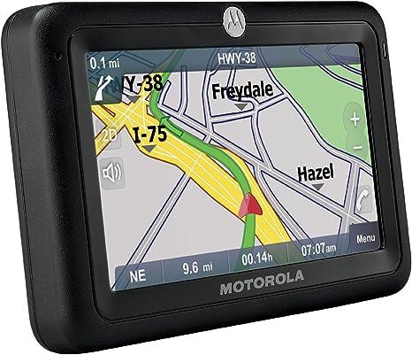 Amazon Com Motorola Motonav Tn30 4 3 Inch Bluetooth Portable Gps Navigator Manufacturer Refurbished Gps Navigation