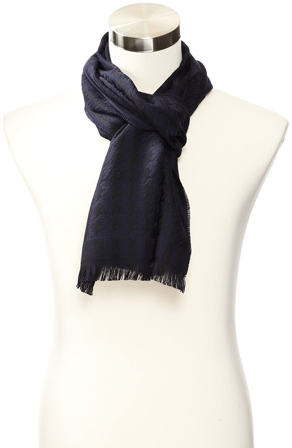 HUGO BOSS Men's Peblo Scarf Dark Blue One Size 50248650