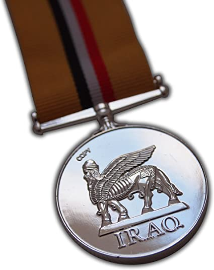 MINI MEDAL WITH RIBBON IRAQ OP TELIC BRAND NEW  @ £5.00