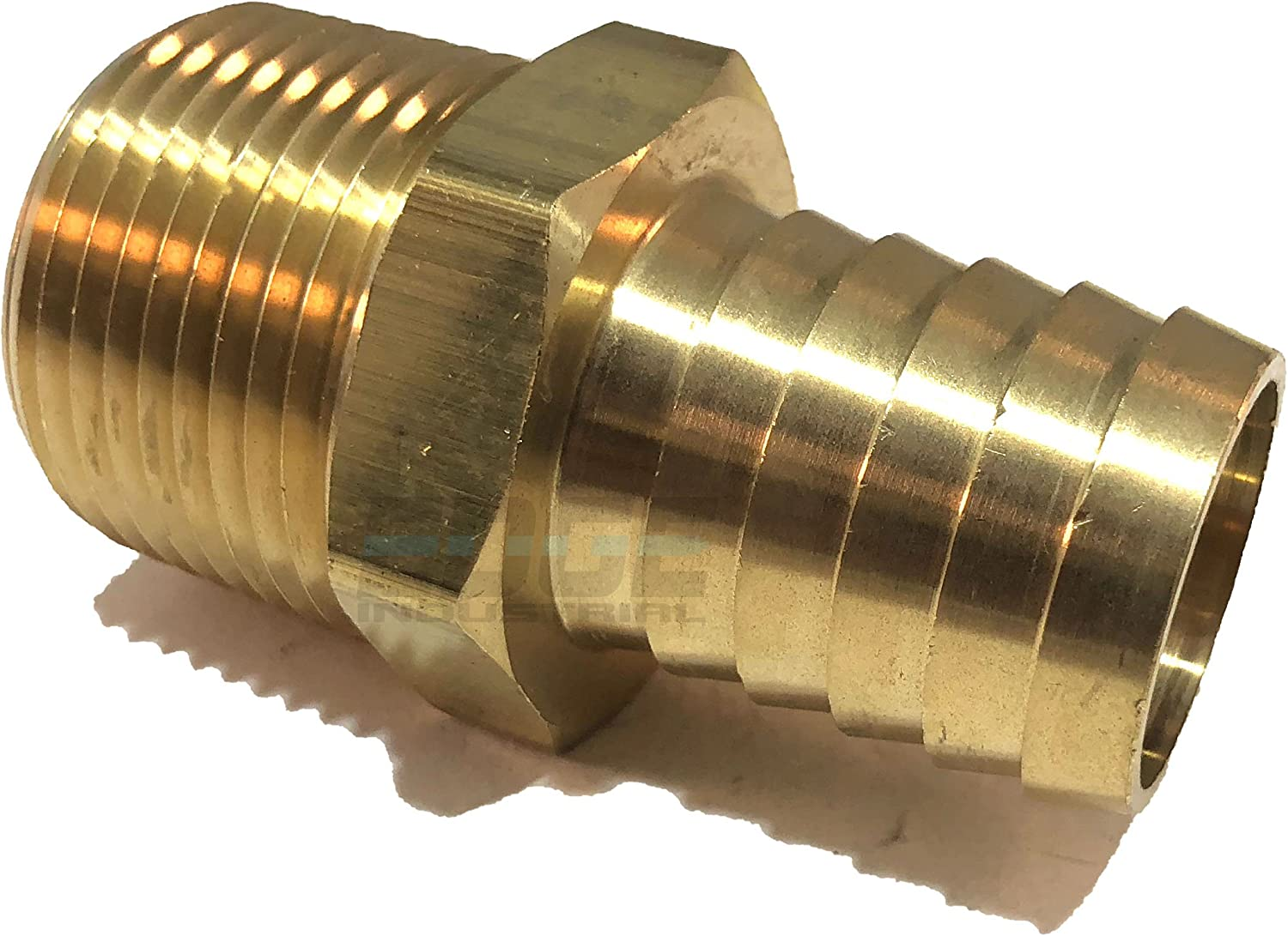 AIR EDGE INDUSTRIAL 1 Hose ID to 1 Male NPT MNPT Straight Brass Fitting Fuel Qty 1 Oil Water WOG Gas