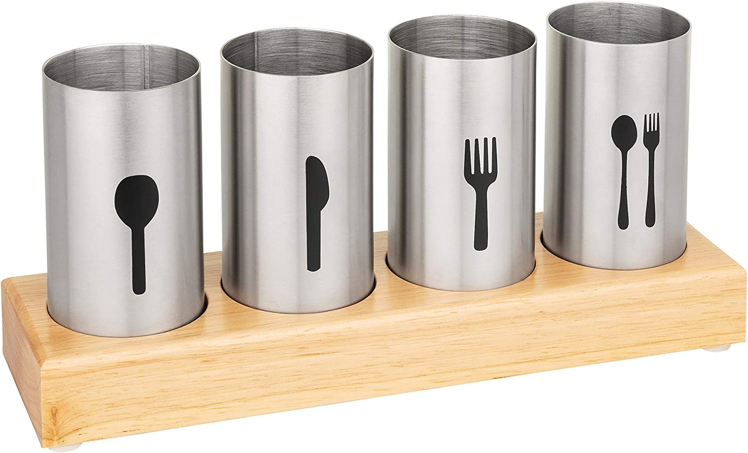 Blissful Home Stainless Steel Flatware & Silverware Cutlery Holder Caddy - Easily Organize Your Spoons, Knives, Forks, etc - Ideal for Kitchen, Dining, Entertaining, Picnics, and Much More…