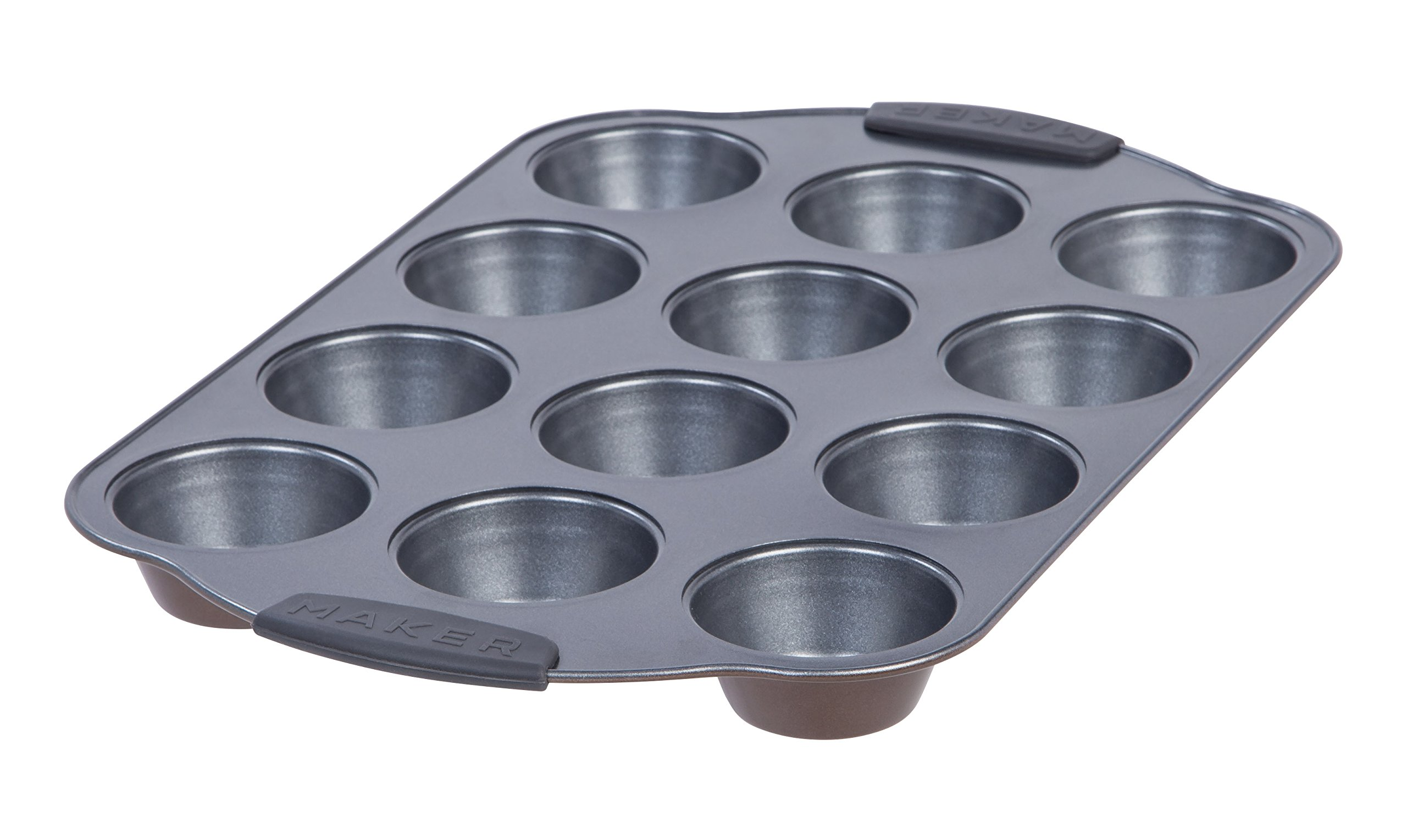 MAKER Homeware 12 Cup Standard Muffin Pan, 6 Pack