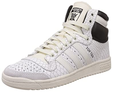 separation shoes d31fa 555ee adidas Originals Women s Top Ten Hi W White and Black Leather Sneakers - 6  UK  Buy Online at Low Prices in India - Amazon.in