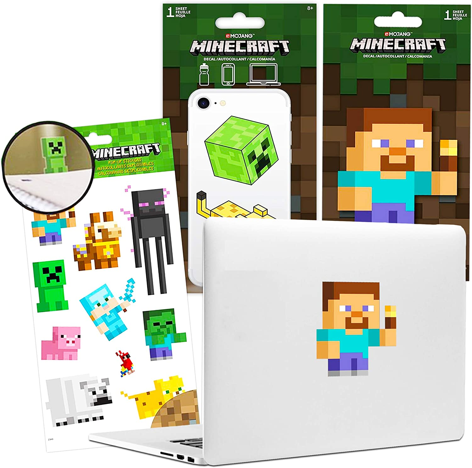 Minecraft Video Game Party Supplies Bundle - 23 Pc Minecraft Decal Stickers Video Game Room Decorations (Minecraft Video Game Party Supplies)