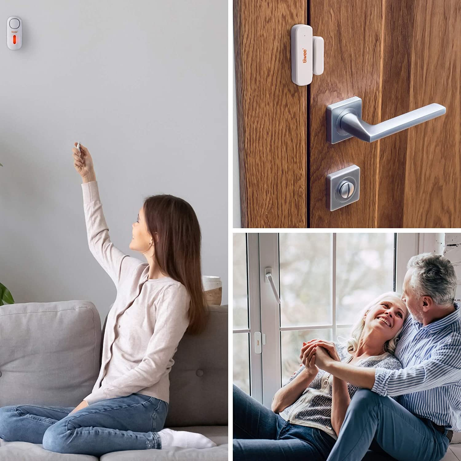 tiiwee A1 Home Alarm System Wireless Kit - 1 Siren, 2 Window & Door Sensors and 1 Remote Control: Amazon.co.uk: DIY & Tools
