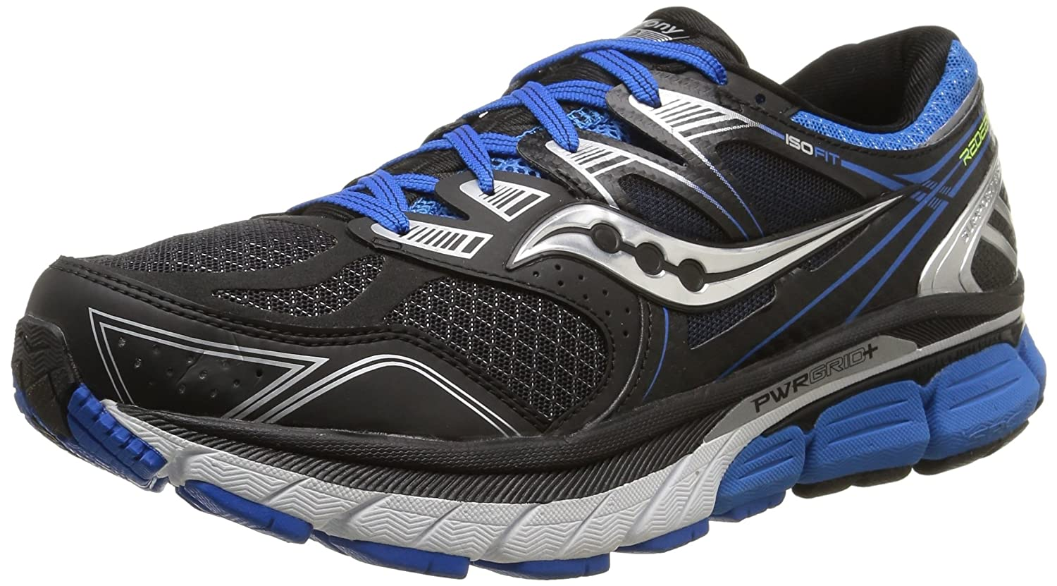 Saucony Men's Redeemer ISO Road Running Shoe B015EN7NNE 10 4E US|Black/Blue