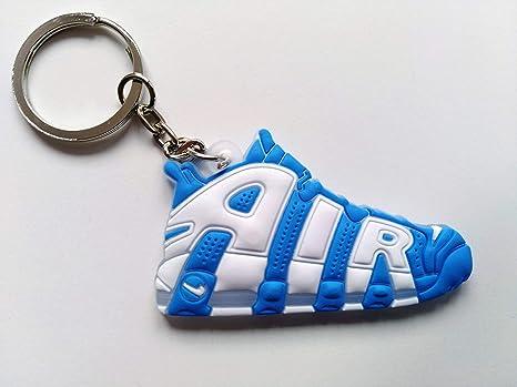 Llavero Zapatillas Compatible Nike Air Jordan Goma Silicona (Azul)