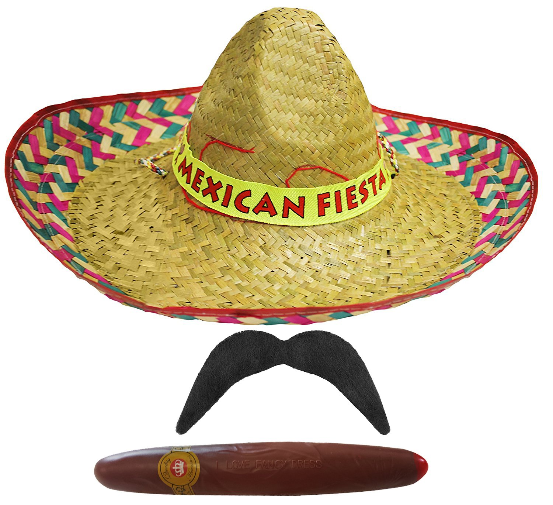 6 sombrero messicano in paglia ideali con un abito elegante o per addio al celibato 6 baffi