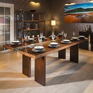 Quatropi Luxury Large 12 Seater 240cm Luxury Dining Table Walnut