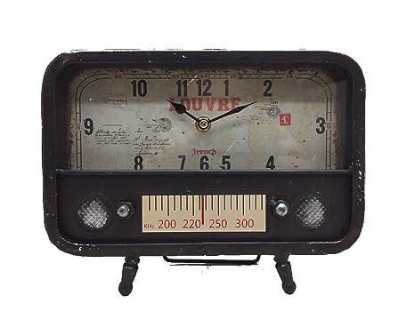 Orologio da tavolo vintage in metallo foto grazia