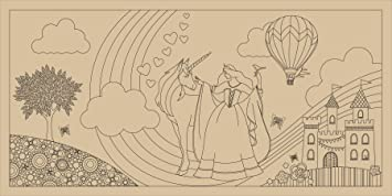 Amazon.com: Giant Coloring Murals - Perfect Princess: Toys & Games