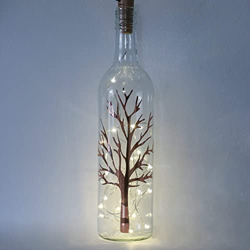 Rose Gold Home Decor Unusual Birthday Gifts For Her Bare Tree Bottle Light By Florabundins Amazoncouk Handmade