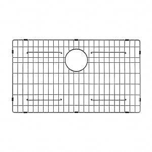 """Kraus KBG-200-33 Bottom Grid 29 11/16"""" x 15 11/16"""" x 1 3/8"""" Stainless Steel"""