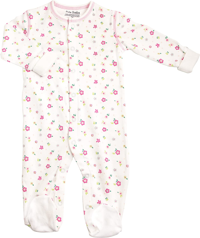 Kushies Baby Girls Front Snap Sleeper