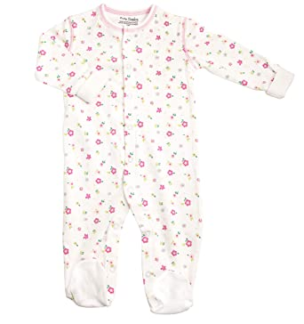 0bd0c81e25 Kushies Cotton Baby Pajamas Girls Footed Sleeper Footie Sleep N Play One  Piece  Amazon.ca  Baby