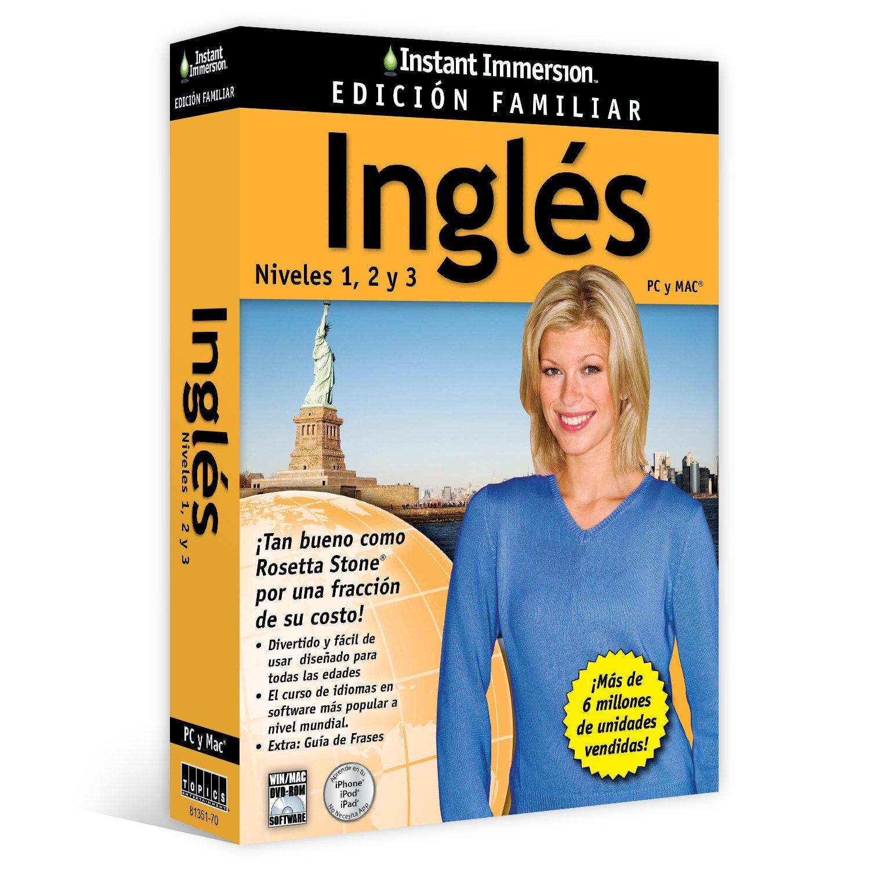 Los niveles de Inmersión en Inglés Family Edition instantáneos 1,2,3