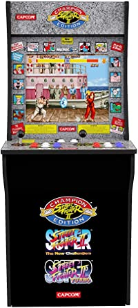 Amazon Com Arcade1up Street Fighter Classic 3 In 1 Home Arcade