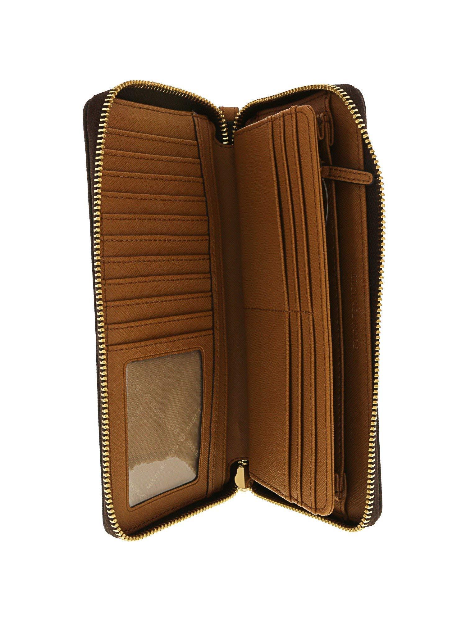 Michael Kors Women's Jet Set Travel Wallet No Size (Brown/Acorn) by Michael Kors