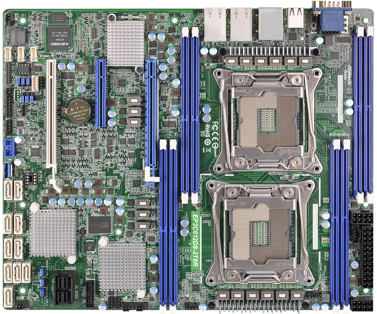 ASRock Rack Motherboard EP2C612D8-2T8R