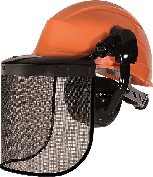 Delta Plus Forestier2 - Casco forestal con protectores auditivos y protección de la cara naranja: Amazon.es: Ropa y accesorios