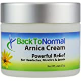 New and Improved Extra Strength Formula! Back To Normal Arnica Cream, 2 Ounces. FDA Registered. Topical Analgesic for Joint and Muscle Relief.