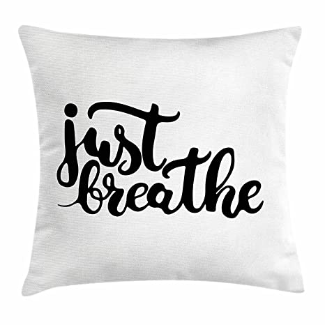 Cool pillow Just Breathe Funda de cojín, con dibujo a mano ...