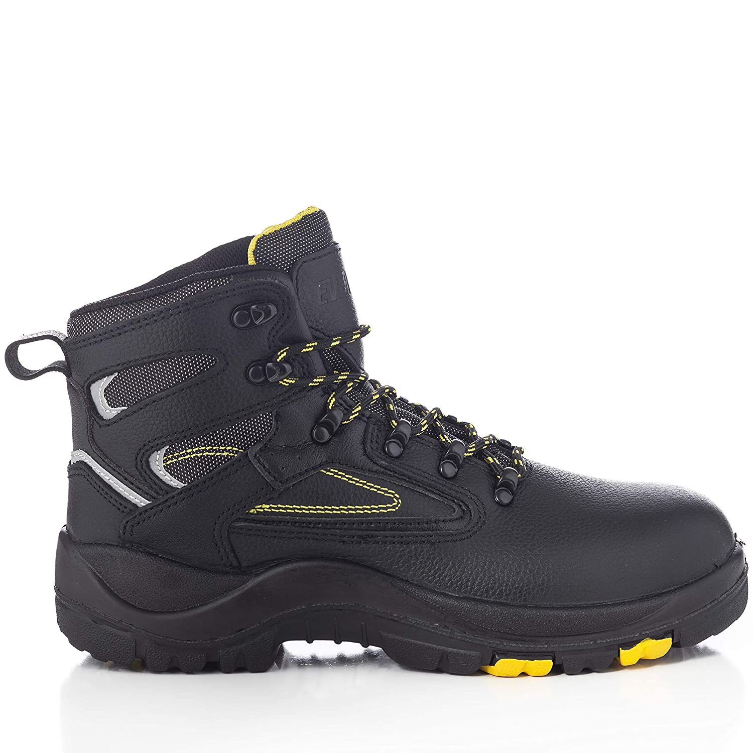 EVER BOOTS Protector Mens Steel Toe Industrial Work Boots Safety Shoes Electrical Hazard Protection