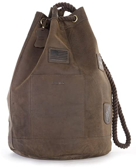 4184ce21c3 LEABAGS Tacoma genuine buffalo leather duffle bag in vintage style -  Nutmeg  Amazon.co.uk  Luggage