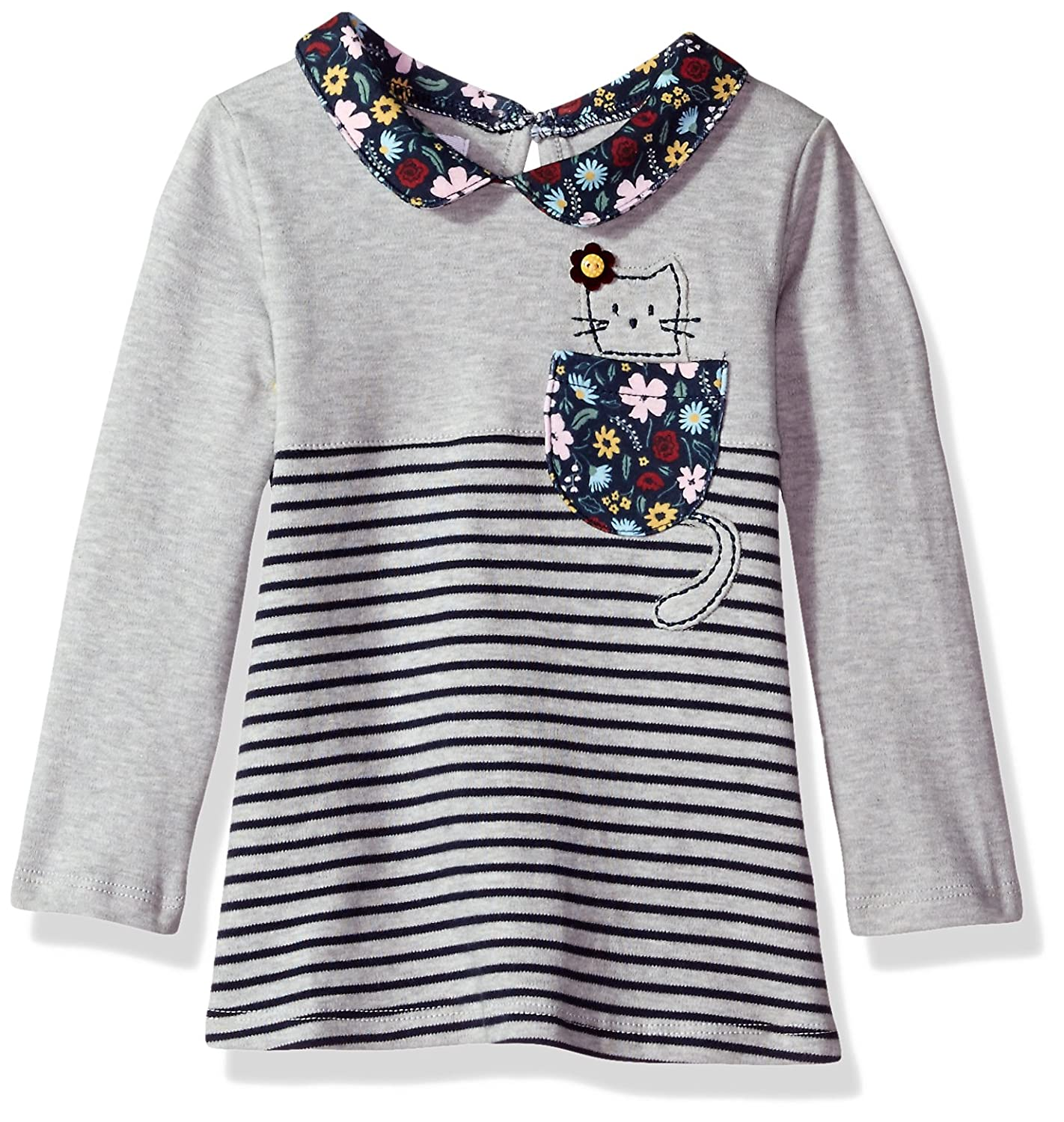 Mud Pie Baby-Girls Toddler Girls Cat in Pocket Long Sleeve Tunic 1152085