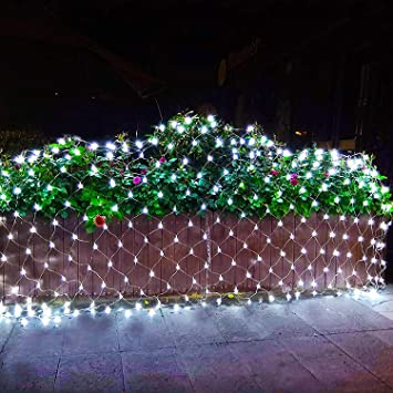 Joomer 12ft x 5ft 360 LED Christmas Net Lights,8 Modes Low Voltage Mesh  Fairy - Amazon.com : Joomer 12ft X 5ft 360 LED Christmas Net Lights, 8 Modes