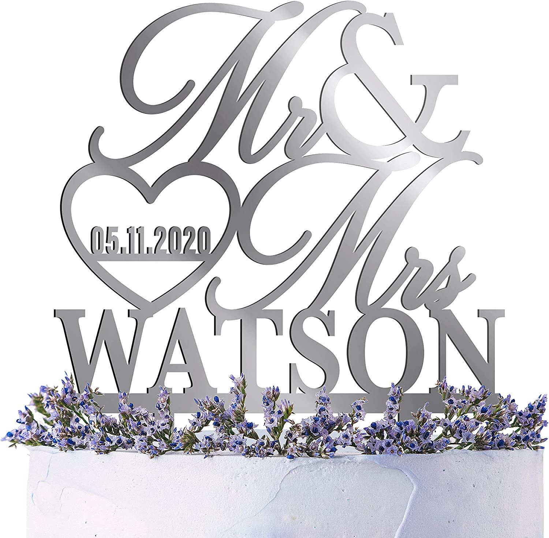 Custom Anniversary personalized groom Last name bride led sign wedding